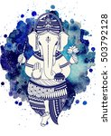 ganesha  or ganapati  indian... | Shutterstock .eps vector #503792128