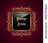 vintage decorative frame with... | Shutterstock .eps vector #503794360