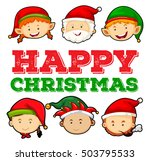 christmas card design with... | Shutterstock .eps vector #503795533