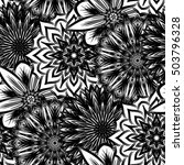 seamless floral background.... | Shutterstock .eps vector #503796328