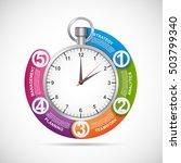 infographics design template.... | Shutterstock .eps vector #503799340