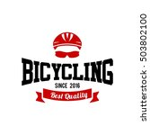 bicycle logo  cycling theme logo | Shutterstock .eps vector #503802100
