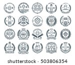 outline colorless vector beer... | Shutterstock .eps vector #503806354