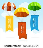 parachute banners in the sky... | Shutterstock .eps vector #503811814