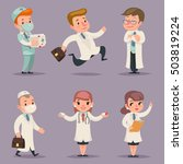 doctor different positions and... | Shutterstock .eps vector #503819224