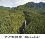 wallace falls state park gold... | Shutterstock . vector #503823184