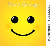 christmas yellow smiley face... | Shutterstock .eps vector #503823280