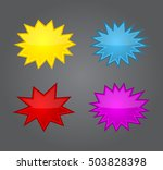 bursting speech star set ... | Shutterstock .eps vector #503828398