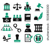 attorney  court  law icon set | Shutterstock .eps vector #503830330