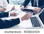 business adviser analyzing... | Shutterstock . vector #503832424