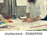 design studio architect... | Shutterstock . vector #503839900