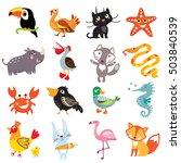 vector illustration of cute... | Shutterstock .eps vector #503840539