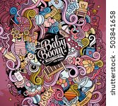 cartoon cute doodles hand drawn ... | Shutterstock .eps vector #503841658