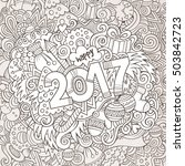 cartoon cute doodles hand drawn ... | Shutterstock .eps vector #503842723