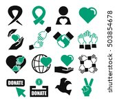 charity icon set | Shutterstock .eps vector #503854678
