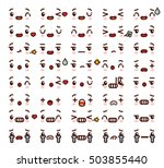 collection of cute lovely... | Shutterstock .eps vector #503855440