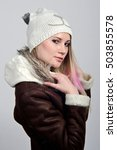 beautiful girl in winter clothes | Shutterstock . vector #503855578