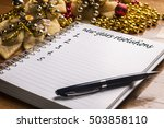 new year's resolutions on a... | Shutterstock . vector #503858110