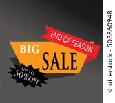 big sale shining banner on... | Shutterstock .eps vector #503860948