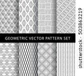 set of geometric vector pattern   Shutterstock .eps vector #503863219