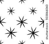 monochrome seamless pattern... | Shutterstock .eps vector #503866060