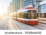 modern tram in toronto downtown ... | Shutterstock . vector #503866630