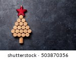 wine corks shaped christmas... | Shutterstock . vector #503870356