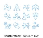 people connection  | Shutterstock .eps vector #503874169