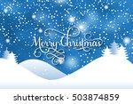 "vector ""merry christmas"" card.... | Shutterstock .eps vector #503874859"