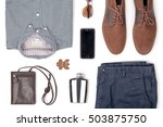 mans clothing and accessories... | Shutterstock . vector #503875750