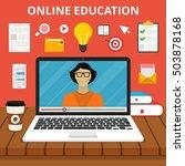 training  education  online... | Shutterstock .eps vector #503878168