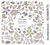 wedding invitation vector card. ... | Shutterstock .eps vector #503880970