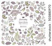 wedding invitation vector card. ... | Shutterstock .eps vector #503880970