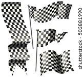 different designs of racing...   Shutterstock .eps vector #503881990