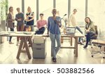 business team brainstorming... | Shutterstock . vector #503882566
