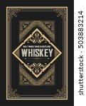 vintage badge for whiskey... | Shutterstock .eps vector #503883214