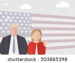 presidential candidate speaks...   Shutterstock .eps vector #503885398
