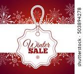 winter sale poster. ... | Shutterstock . vector #503894278
