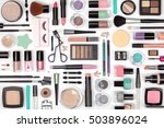 makeup cosmetics  brushes and... | Shutterstock . vector #503896024