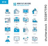 color flat line icons set of... | Shutterstock .eps vector #503897590