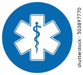 medical symbol of the emergency ... | Shutterstock .eps vector #503897770