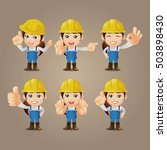 people set   profession   worker | Shutterstock .eps vector #503898430