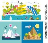 set of different landscapes in... | Shutterstock .eps vector #503902036