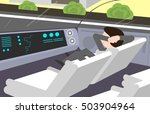 man traveling in electric  self ... | Shutterstock .eps vector #503904964