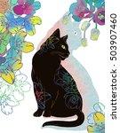 digital illustration of black... | Shutterstock . vector #503907460
