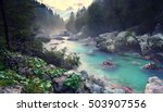 beautiful turquoise river in... | Shutterstock . vector #503907556