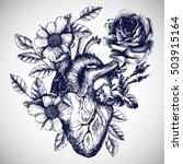 Blooming Anatomical Human Hear...