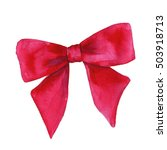 gift red bow. isolated on a...   Shutterstock . vector #503918713