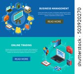 business management and online... | Shutterstock .eps vector #503920270