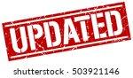 updated. grunge vintage updated ... | Shutterstock .eps vector #503921146